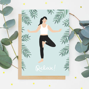'Relax!' Yogi Greeting Card