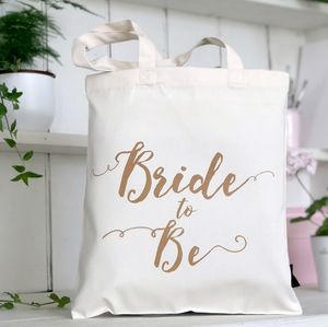 'Bride To Be' Wedding Tote Bag - hen party gifts & styling