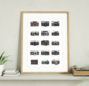 Classic Cameras Personalised Print - posters & prints