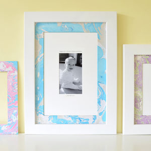 Daddy's Personalised Marbled Mounted Photo