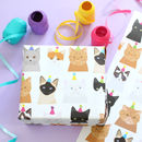 Party Cat Wrapping Paper