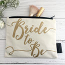 Bride To Be Bag with Matching Makeup Bag