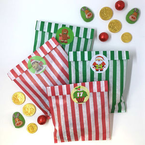 Stripy Bags And Advent Stickers For Christmas - new in food & drink