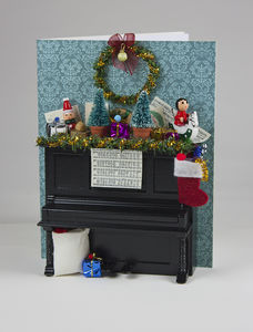 Festive Piano Personalised Christmas Card
