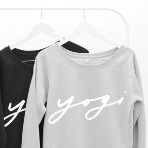 Yogi Oversized Women's Sweater - slogan fashion trend