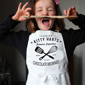 'Watch Me Whip' Kids Personalised Apron