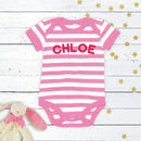 Personalised Baby Striped Vest