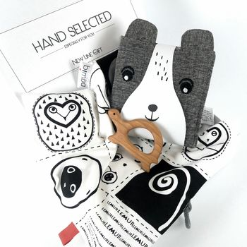 Friendly Faces Monochrome Baby Gift Set