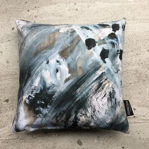 Monochrome Painterly Cushion