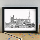 Worcester Skyline Art Print Unframed