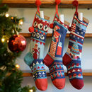 Personalised Hand Knitted Christmas Stockings