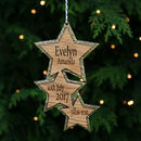 Gold Star Christmas Baby Decoration