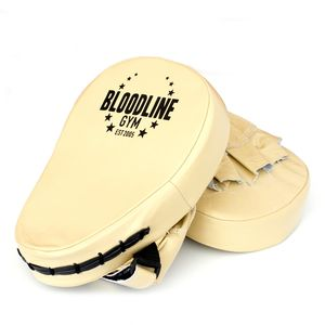 Personalised Leather Boxing Focus Pads Light Tan - new in home