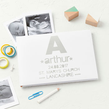 New Baby Personalised Christening Photo Album Journal