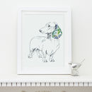 Dachshund Personalised Pet Portrait