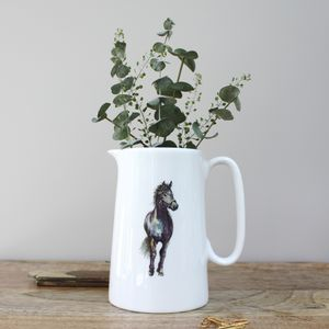 Horse One Pint Fine Bone China Jug - kitchen