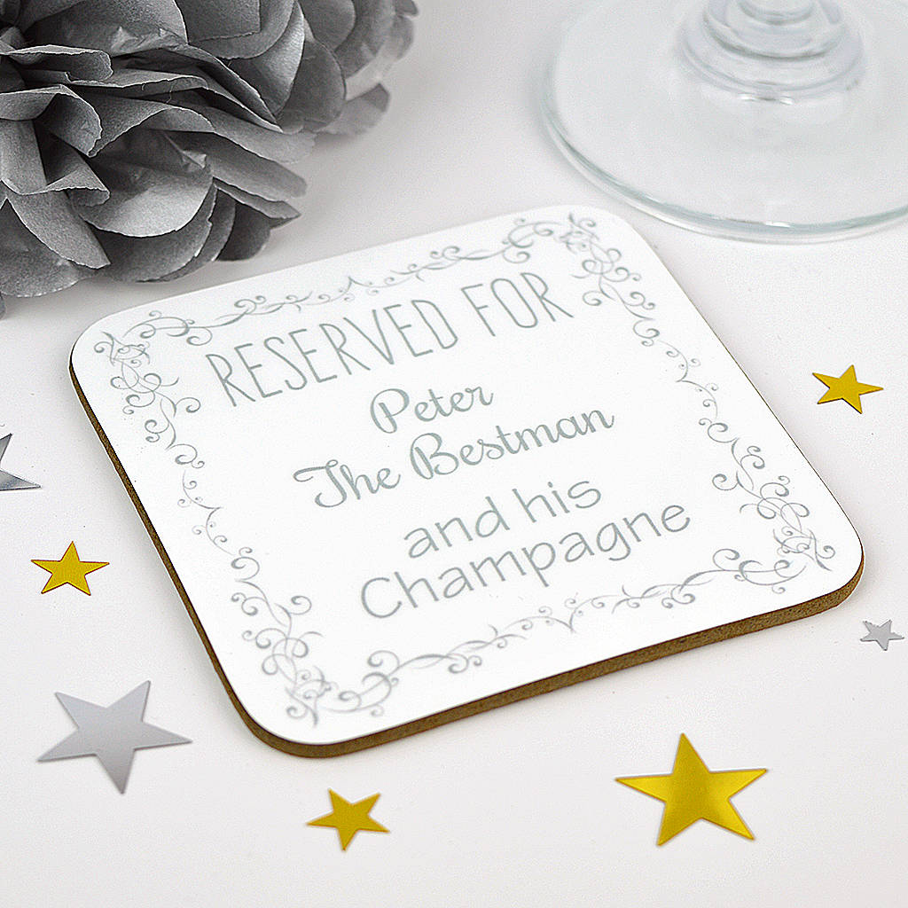 Personalised Best Man Wedding Coaster