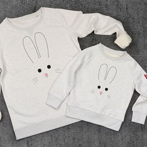 Bunny Face Sweatshirt Jumper Set - mother & child sets