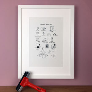 Personalised Father's Day Memories Illustration Print - brand new sellers