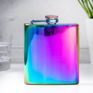 Iridescent Colour Changing Flask - womens hipflasks