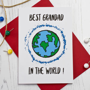 Best Grandad In The World Card - birthday cards