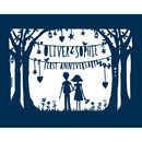First Anniversary Print Or Papercut In Mount