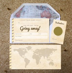 Going Away Scratch Off Boarding Pass - cards