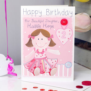 Personalised Rag Doll Relation Birthday Card - birthday cards