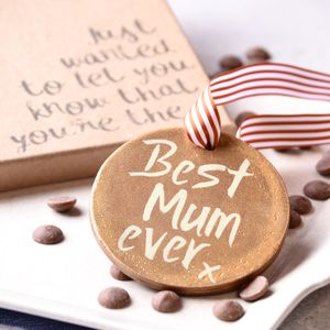 'Best Mum Ever' Chocolate Medal - novelty chocolates