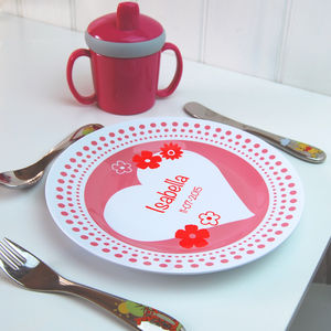 Personalised Girl's Plate