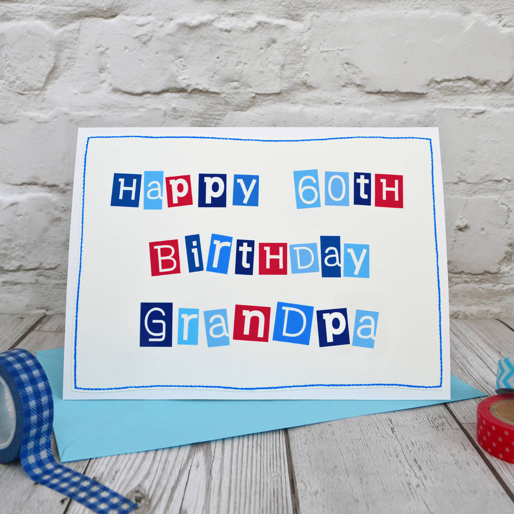 Large A5 60th Birthday Card For Men By Jenny Arnott Cards Gifts