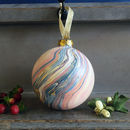 Marbled Ceramic Bauble