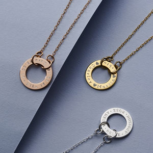 Personalised Circle Link Necklace - new in jewellery