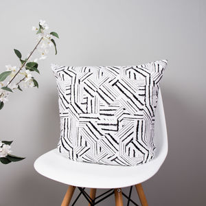 Abstract Zebra Print Cushion - new season homeware