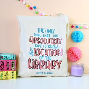 Albert Einstein Quote Book Lovers Tote Bag
