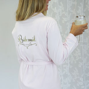 Personalised Wedding Dressing Gown For A Bridesmaid - wedding fashion