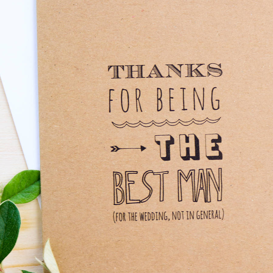 Thanks For Being The Best Man Card