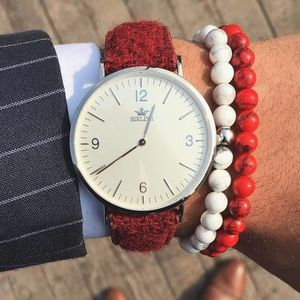Harris Tweed Red Oxshott Watch - watches