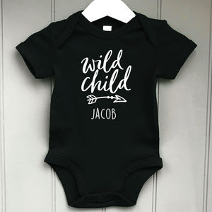 Personalised Wild Child Baby Grow