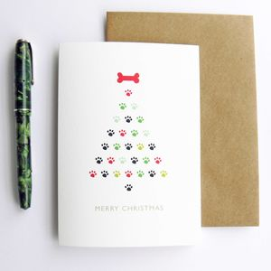 Dog Christmas Tree Christmas Card - christmas cards