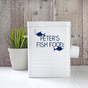 Personalised Fish Food Storage Tin