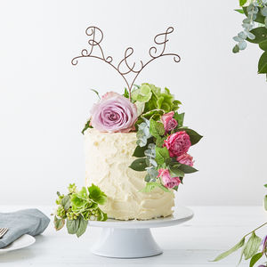Personalised Arrow Initial Wire Cake Topper