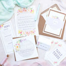 Floral Sweetheart Wedding Invite Sample Pack