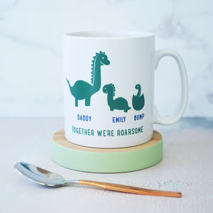 Personalised Daddy And Me Dinosaur Mug - new in home