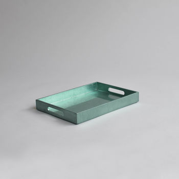 Small Drinks Tray,Duck Egg (Metallic)