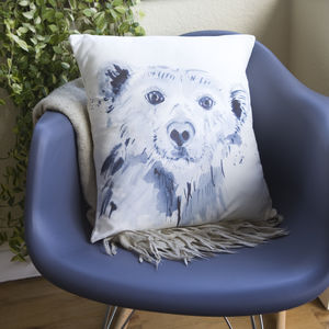 Inky Polar Bear Cushion - children's room