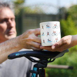 Triathlon Bone China Mug - tableware