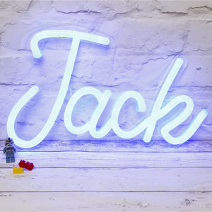 Personalised LED Neon Light Up Name - children's lighting
