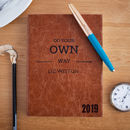 2019 Diary, Personalised, Luxury Leather Colour Choices