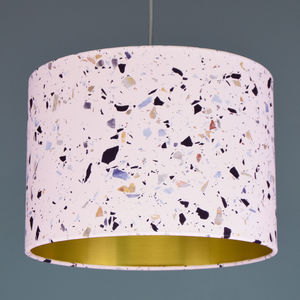 Blush Terrazzo Effect Lampshade Choice Of Lining